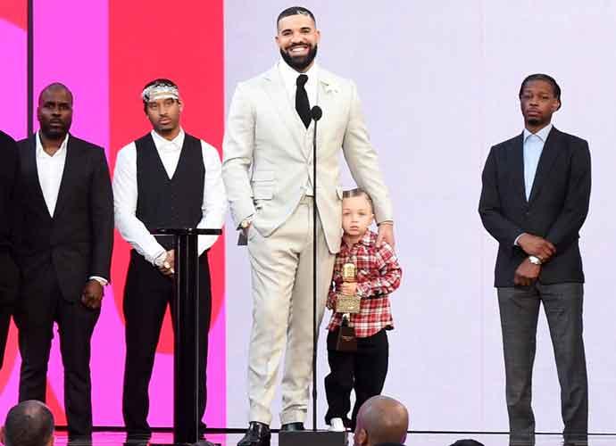 Drake Brings Son Adonis To Accept Award At Billboard Music Award