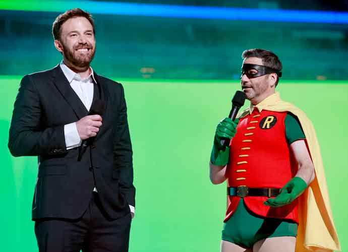 Jimmy Kimmel Dons Robin Costume With Ben Affleck At Vax Live Concert