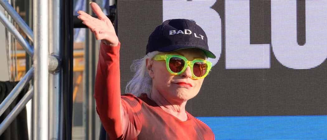 Debbie Harry Speaks At Tribeca Film Festival In Lime-Green Sunglasses