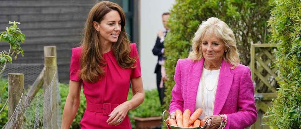 Kate Middleton & First Lady Jill Biden Spend Day With English Pre-School Kids
