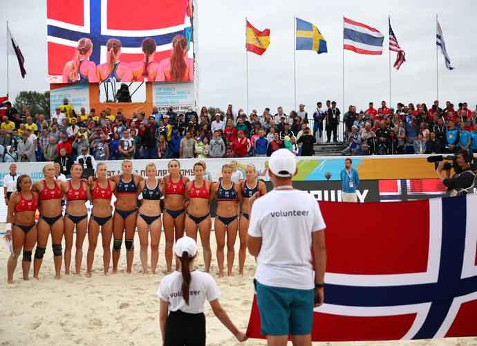 Pink Offers To Pay Fine For Norwegian Women's Handball Team After RefusingTo Wear 'Sexist' Bikinis
