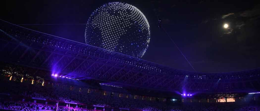 Thousands Of Drones Light Up Sky At The Tokyo Olympics Opening Ceremony