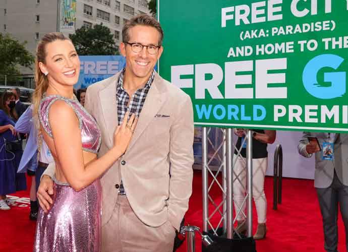 Ryan Reynolds & Blake Lively Snuggle Up At 'Free Guy' Premiere