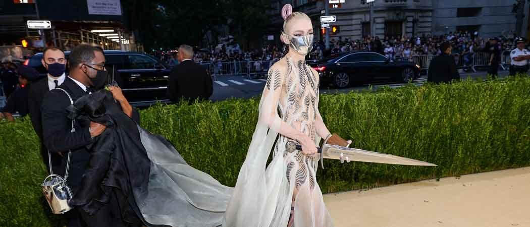 Grimes Brings Actual Sword To The Met Gala 2021