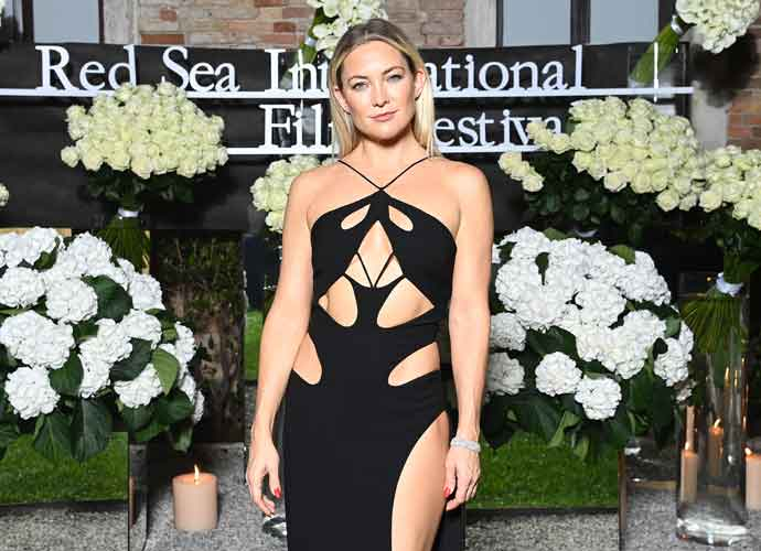 Kate Hudson Stuns With Cut-Out Dress For Venice Film Festival