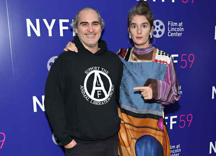 Joaquin Phoenix & Gaby Hoffmann Hug At 'C'mon C'mon' Screening At New York Film Festival