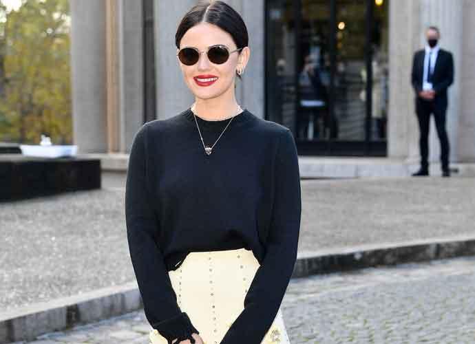 Lucy Hale Looks Elegant At Miu Miu Show At Paris Fashion Week