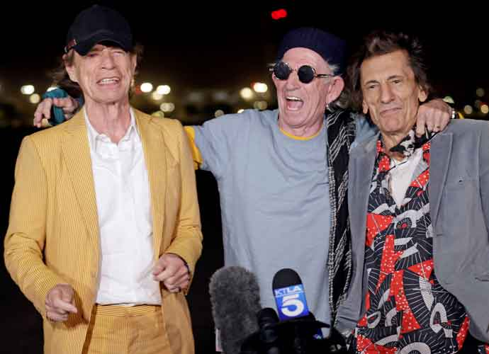 Rolling Stones' Mick Jagger, Keith Richards & Ronnie Wood Of  Touch Down Kick Touch Down In L.A.