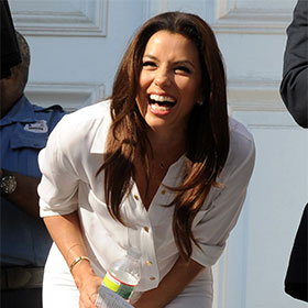 Eva Longoria Attends Cory Booker Rally In New Jersey, Says He's A 'Future President'