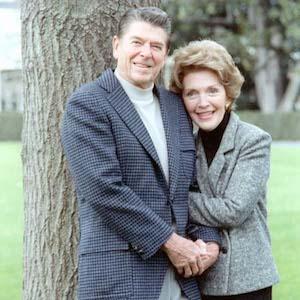 Nancy Reagan Visits Ronald Reagan's Grave