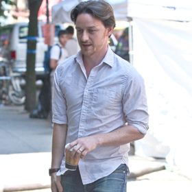 James McAvoy Takes Coffee Break Filming 'The Disappearance Of Eleanor Rigby'
