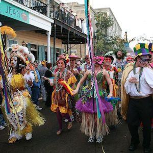 Mardi Gras Celebrated In New Orleans Despite Gray Skies