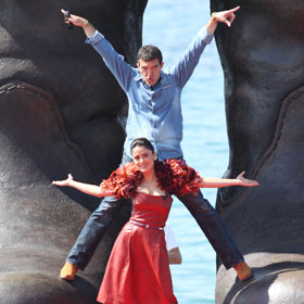Salma Hayek And Antonio Banderas Kid Around At Cannes Film Festival