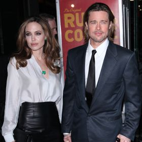 Brad Pitt Clutches Cane, Angelina At NYFCC