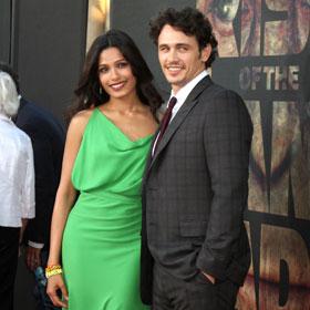 Freida Pinto And James Franco Go 'Apes'