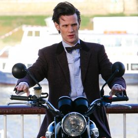 Matt Smith Takes A Ride As Dr. Who