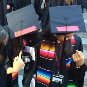 Harvard Class Of 2014 Graduates Join Brown And Columbia University In Wearing Red Tape In Protest Of Sexual Assault Policy
