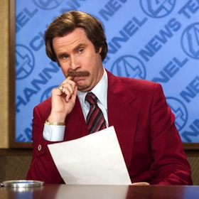 Will Ferrell And Chirstina Applegate Film 'Anchorman: The Legend Continues'