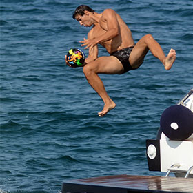 Shirtless Rafael Nadal & Girlfriend Xisca Perello Vacation In Majorca