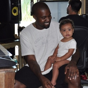 North West Attends Balenciaga Fashion Show With Parents, Kanye West And Kim Kardashian-West