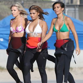 The Saturdays Catch Some Waves