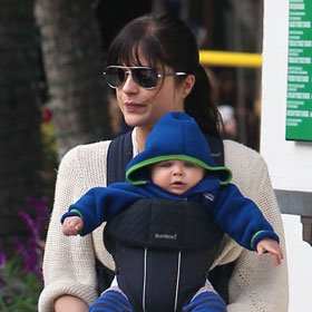 Selma Blair Takes Baby Arthur Shopping