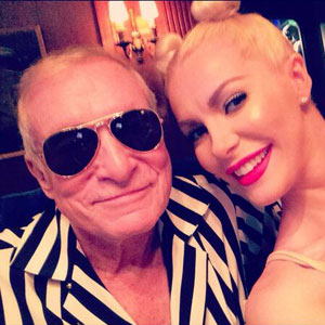 Hugh Hefner Dresses As Robin Thicke For Halloween, Wife Crystal Dresses As Miley Cyrus
