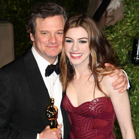 Oscars 2011: Colin Firth And Anne Hathaway