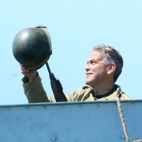 George Clooney Spotted Filming 'The Monuments Men' In England