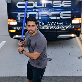 Wilmer Valderrama Completes Comic Con's 'Course Of The Force' Light Saber Race