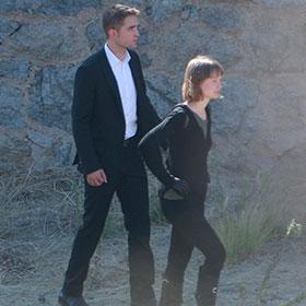Robert Pattinson & Mia Wasikowska Film 'Maps To The Stars' At Runyon Canyon