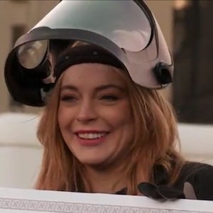 Lindsay Lohan Destroys A Car With Billy Eichner