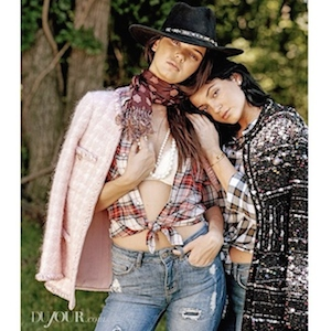 Kendall And Kylie Jenner Cover 'DuJour' Magazine
