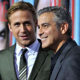 George Clooney And Ryan Gosling Look Dapper At Premiere