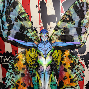 Heidi Klum Attends Annual Halloween Party As Butterfly