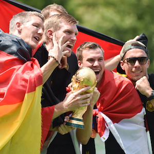 German Soccer Squad Returns Home To Heroes Welcome After World Cup Victory