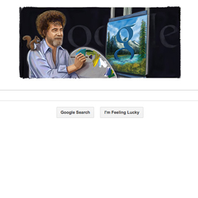Painter Bob Ross Honored With Google Doodle