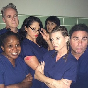 Ellen Pompeo Shares Pic Of 'Grey's Anatomy' Cast Posing As 'Orange Is The New Black' Cast