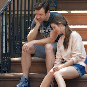 Jason Sudeikis & Alison Brie Film 'Sleeping With Other People' In New York City