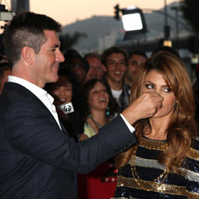 Simon Cowell And Paula Abdul Clown Around At X-Factor Premiere