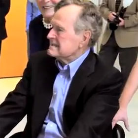 George Bush Sr. Gets Flashmobbed [Video]