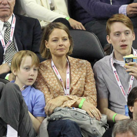 Jodie Foster And Her Sons, Charles And Kit, Enjoy Tennis Match Without Cydney Bernard