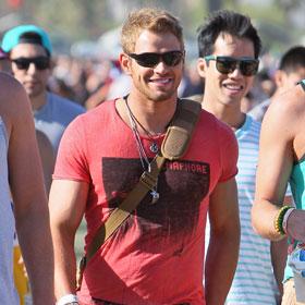 Kellan Lutz Amuses Himself At Coachella