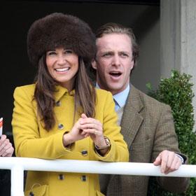 Pippa Middleton Boyfriend Tom Kingston Get Extremely Close At Cheltenham Races