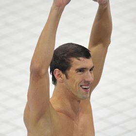 Michael Phelps Celebrates Historic Win