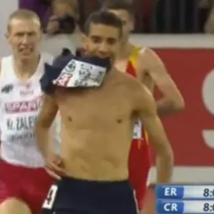 French Runner Mahiedine Mekhissi-Benabbad Stripped Of Steeplechase Victory After Shirtless Celebration