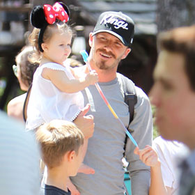 David Beckham Brings Baby Harper Seven (In Minnie Mouse Ears!) To Disneyland