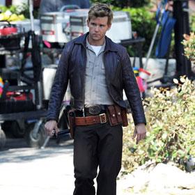 Ryan Kwanten On The Set Of 'True Blood'
