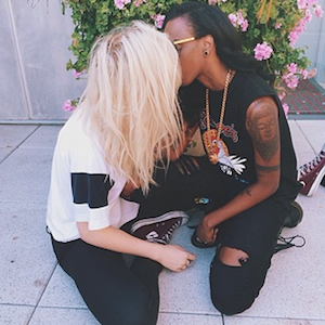 Ireland Baldwin Kisses Rapper Angel Haze In Instagram Pic