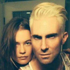Adam Levine Debuts Platinum Blond 'Do